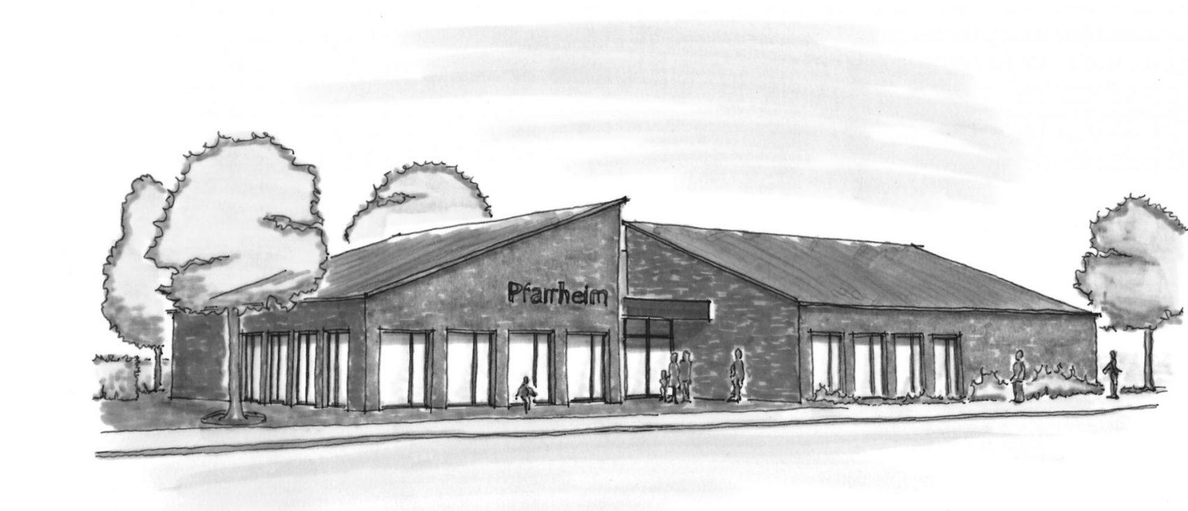 Pfarrheim, Bücherei und Jugendzentrum